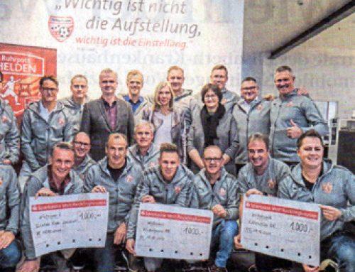 Kicker spenden 3000 Euro für den guten Zweck